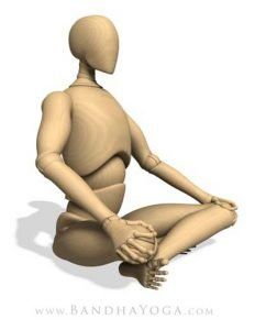 sitting upright