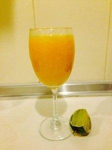 Lime orange and pinapple juice