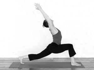 High lunge with backbend