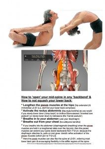 psoas with drop back